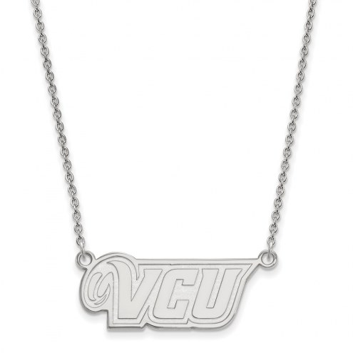 Virginia Commonwealth Rams Sterling Silver Small Pendant Necklace