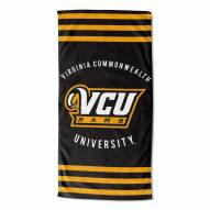 Virginia Commonwealth Rams Stripes Beach Towel