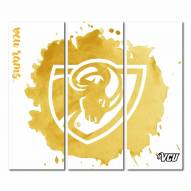 Virginia Commonwealth Rams Triptych Watercolor Canvas Wall Art