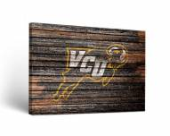 Virginia Commonwealth Rams Weathered Canvas Wall Art
