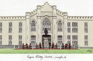Virginia Military Institute Keydets Campus Images Lithograph