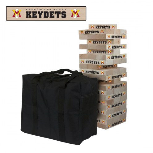 Virginia Military Institute Keydets Giant Wooden Tumble Tower Game