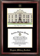 Virginia Military Institute Keydets Gold Embossed Diploma Frame with Lithograph