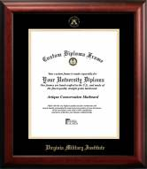 Virginia Military Institute Keydets Gold Embossed Diploma Frame