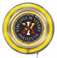 Virginia Military Institute Keydets Neon Clock