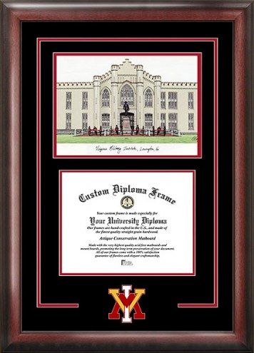 Virginia Military Institute Keydets Spirit Diploma Frame with Campus Image