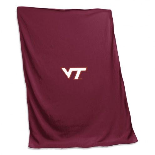 Virginia Tech Hokies Sweatshirt Blanket