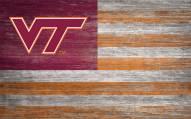 "Virginia Tech Hokies 11"" x 19"" Distressed Flag Sign"