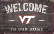 """Virginia Tech Hokies 11"""" x 19"""" Welcome to Our Home Sign"""