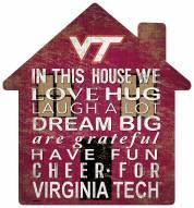 "Virginia Tech Hokies 12"" House Sign"