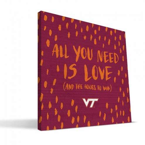 "Virginia Tech Hokies 12"" x 12"" All You Need Canvas Print"
