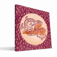 "Virginia Tech Hokies 12"" x 12"" Born a Fan Canvas Print"