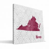 "Virginia Tech Hokies 12"" x 12"" Home Canvas Print"