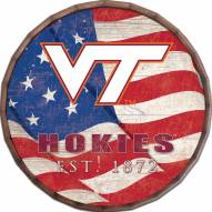"Virginia Tech Hokies 16"" Flag Barrel Top"
