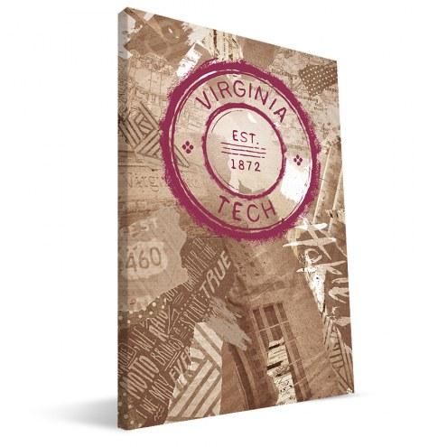 "Virginia Tech Hokies 16"" x 24"" Scrapbook Canvas Print"