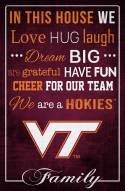 "Virginia Tech Hokies 17"" x 26"" In This House Sign"