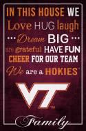 "Virginia Tech Hokies 17"" x 26"" In This House Sign"