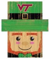 "Virginia Tech Hokies 19"" x 16"" Leprechaun Head"