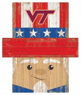 "Virginia Tech Hokies 19"" x 16"" Patriotic Head"