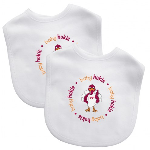 Virginia Tech Hokies 2-Pack Baby Bibs