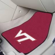Virginia Tech Hokies 2-Piece Carpet Car Mats