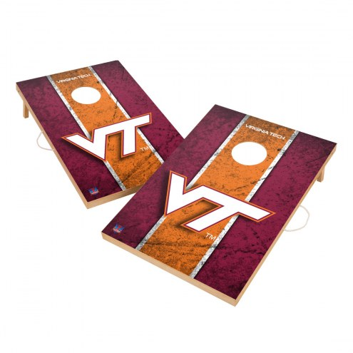 Virginia Tech Hokies 2' x 3' Vintage Wood Cornhole Game
