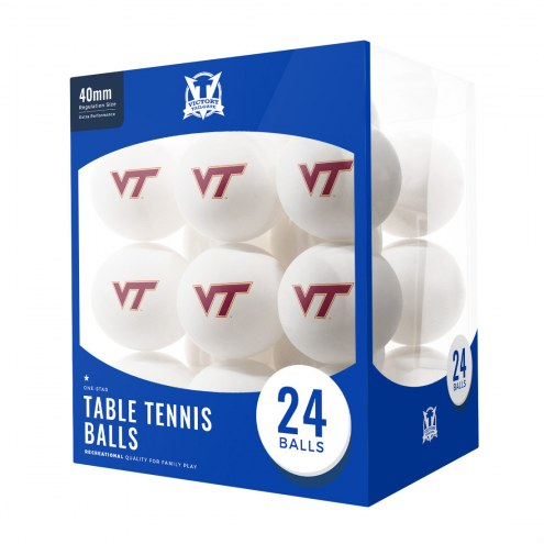 Virginia Tech Hokies 24 Count Ping Pong Balls