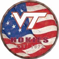 "Virginia Tech Hokies 24"" Flag Barrel Top"