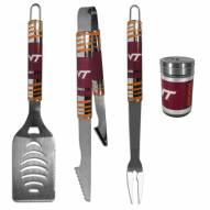 Virginia Tech Hokies 3 Piece Tailgater BBQ Set and Season Shaker