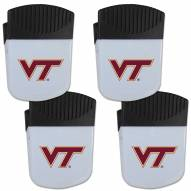 Virginia Tech Hokies 4 Pack Chip Clip Magnet with Bottle Opener