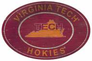 "Virginia Tech Hokies 46"" Heritage Logo Oval Sign"