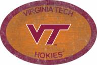 """Virginia Tech Hokies 46"""" Team Color Oval Sign"""