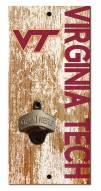 "Virginia Tech Hokies 6"" x 12"" Distressed Bottle Opener"