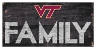 "Virginia Tech Hokies 6"" x 12"" Family Sign"