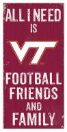 "Virginia Tech Hokies 6"" x 12"" Friends & Family Sign"
