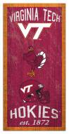 "Virginia Tech Hokies 6"" x 12"" Heritage Sign"