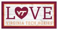 "Virginia Tech Hokies 6"" x 12"" Love Sign"