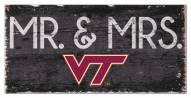 "Virginia Tech Hokies 6"" x 12"" Mr. & Mrs. Sign"