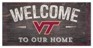 "Virginia Tech Hokies 6"" x 12"" Welcome Sign"