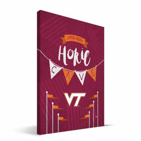 "Virginia Tech Hokies 8"" x 12"" Little Man Canvas Print"