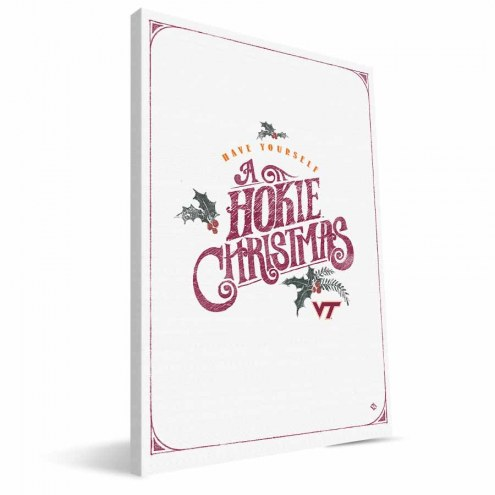 "Virginia Tech Hokies 8"" x 12"" Merry Little Christmas Canvas Print"