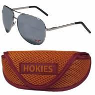 Virginia Tech Hokies Aviator Sunglasses and Sports Case