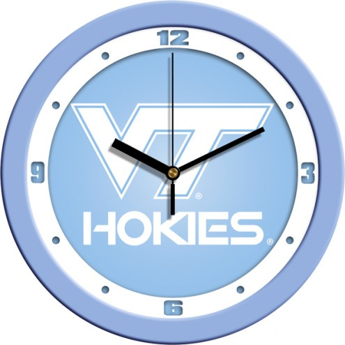 Virginia Tech Hokies Baby Blue Wall Clock