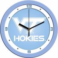 Virginia Tech Hokies Baby Blue Wall Clock