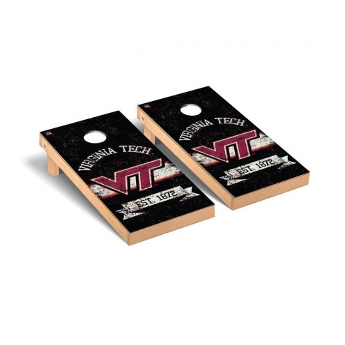 Virginia Tech Hokies Banner Vintage Cornhole Game Set