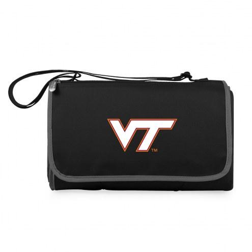 Virginia Tech Hokies Black Blanket Tote