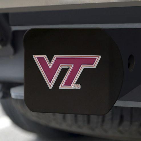 Virginia Tech Hokies Black Color Hitch Cover
