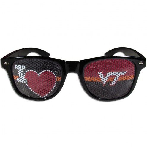 Virginia Tech Hokies Black I Heart Game Day Shades