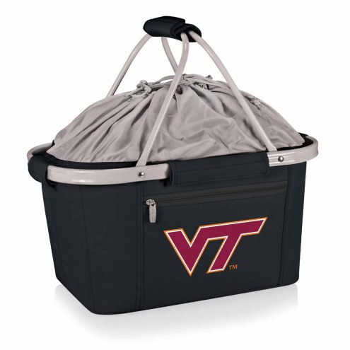 Virginia Tech Hokies Black Metro Picnic Basket
