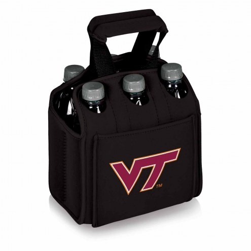 Virginia Tech Hokies Black Six Pack Cooler Tote